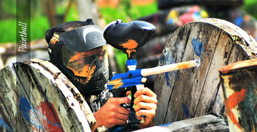 Bali Tour - Paintball Games, Aiming the Targets , Pertiwi, Mengwi, Bali